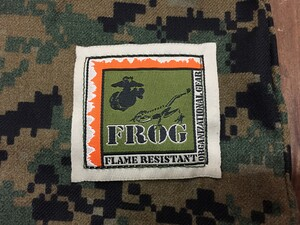 USMC プルオーバーシャツ FROG ウッドランドマーパット MEDIUM REGULARの写真6