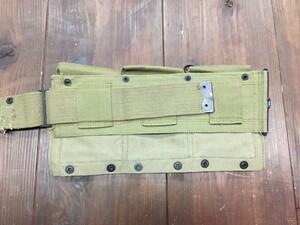 M1937 BAR マガジンベルト ミリタリー コットン カーキの写真5