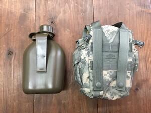 米軍 1QTキャンティーン MOLLEカバー ACU付き ミリタリー ODの写真1