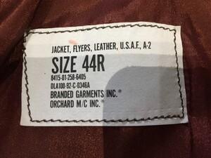 BRANDED GARMENTS A-2 ジャケット レザー サイズ44Rの写真4