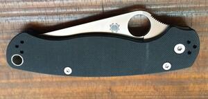 スパイダルコ パラミリタリー2 シルバー C81GP2 ブラックハンドル アウトドアの写真0