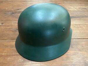 ドイツ連邦 BGS 国境警備隊 スティールヘルメット グリーン ミリタリーの写真1