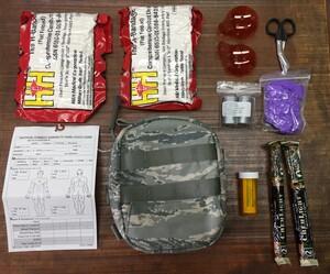 米空軍 実物 JFAK ジョイントファーストエイドキット ABU 内容品完品の写真1