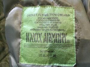 ALPHA KNOX ARMORY フライトジャケット CWU-45/P セージグリーンの写真7