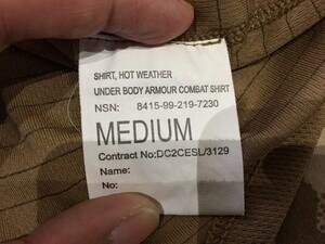 イギリス軍 コンバットシャツ デザートカモ Mサイズ ミリタリー サバゲーの写真4