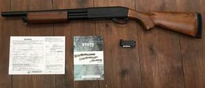 S&T レミントンタイプ M870 エアーポンプアクションショットガン SPG07 リアルウッドの写真0