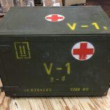 チェコ軍放出品 メディカルボックス V-1表記 医療器具運搬BOX ミリタリー コレクションを買取りさせて頂きました。