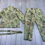 陸自迷彩 夏用戦闘服 レプリカ 上下セット 麻混3型 6Bサイズを買取りさせて頂きました。