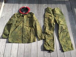 ロシア軍 BDU 上下セット デジタルフローラ ベレー帽セット カカールダ付きの写真0