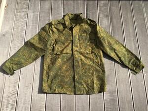 ロシア軍 BDU 上下セット デジタルフローラ ベレー帽セット カカールダ付きの写真1