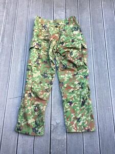 陸上自衛隊 E/C3型迷彩服上下セット サイズ4A ベルト付き ミリタリー サバゲーの写真8