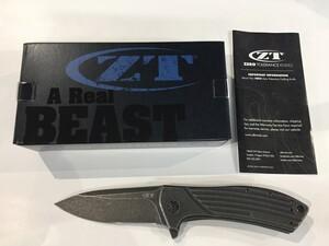 ZERO TOLERANCE ゼロトレランス 折りたたみナイフ ZT0801BW TITANIUMの写真0