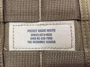 USMC ラジオポーチ コヨーテブラウン MOLLEシステム ミリタリー サバゲーの写真3