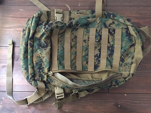 USMC アサルトパック マーパット 迷彩 放出品 ミリタリーの写真4