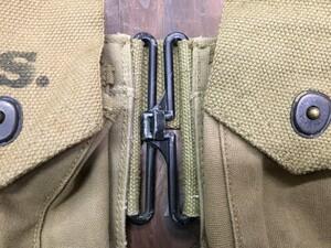 M1937 BAR マガジンベルト ミリタリー コットン カーキの写真9