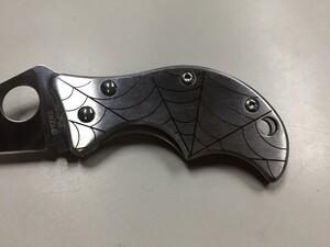 スパイダルコ 折り畳みナイフ スピン VG-10 C86P アウトドアの写真3