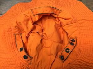 アメリカ軍放出品 サンハット リバーシブル オレンジ/オリーブ 実物 ミリタリーの写真4