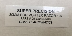 実物 ガイズリー社 Super Precision 30mmマウント Vortexの写真5