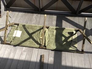 米軍 GIコット 木製 折り畳みベッド ミリタリー アンティークの写真6