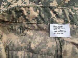 米軍 コンバットユニフォーム 上下セット ACU M-XSサイズ ミリタリーの写真9