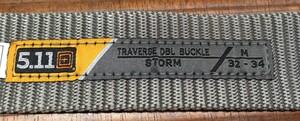 5.11 TACTICAL トラバース ダブルバックルベルト 59510 ストームの写真2