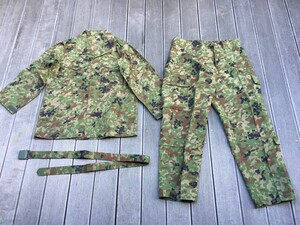 陸自迷彩 夏用戦闘服 レプリカ 上下セット 麻混3型 6Bサイズの写真0