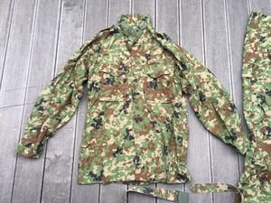 陸自迷彩2型 夏用作業服 ベルト付き サイズ表記3A ミリタリー コスプレの写真1
