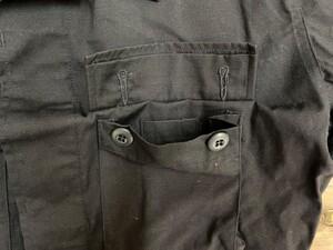 アメリカ軍 デッドストック BDUジャケット 黒 S-R ミリタリーの写真4