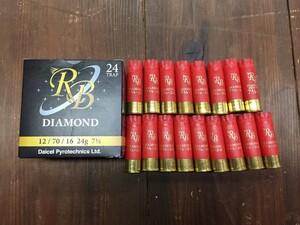 散弾銃 ショットシェル 空薬きょう【RB】 DIAMOND 12ゲージ 17個入りの写真0