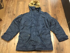 VALLEY APPAREL N-3B 防寒ジャケット ネイビー XLサイズの写真0
