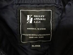 VALLEY APPAREL N-3B 防寒ジャケット ネイビー XLサイズの写真3