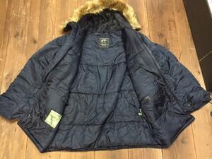 VALLEY APPAREL N-3B 防寒ジャケット ネイビー XLサイズの写真4
