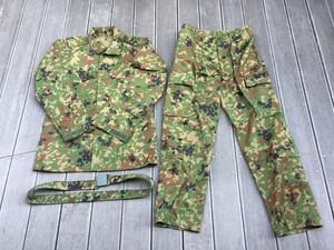 陸上自衛隊 迷彩服 3型 TC 5Aサイズ 上下セットベルト付きの写真0