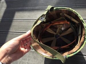 米軍 M1ヘルメット ミッチェルパターンリバーシブルカバー バンド 内帽付き コレクションの写真9