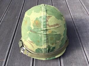 米軍 M1ヘルメット ミッチェルパターンリバーシブルカバー バンド 内帽付き コレクションの写真2