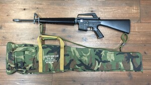 東京マルイ 電動ガン M16ベトナム 初期型再現加工品 パーツ欠品有り ウッドランドガンケースセットの写真0