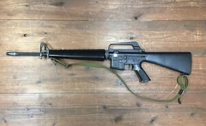 東京マルイ 電動ガン M16ベトナム 初期型再現加工品 パーツ欠品有り ウッドランドガンケースセットの写真1