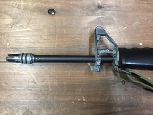 東京マルイ 電動ガン M16ベトナム 初期型再現加工品 パーツ欠品有り ウッドランドガンケースセットの写真4